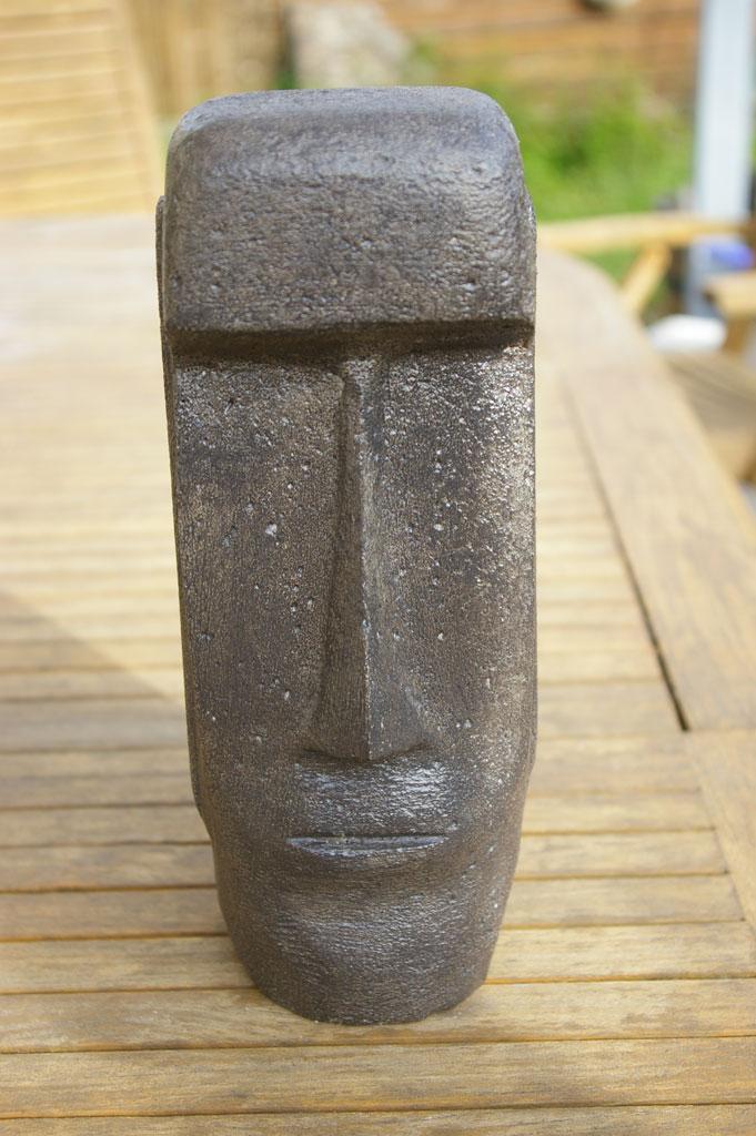 Moaï – 2 – Sculpture en béton cellulaire